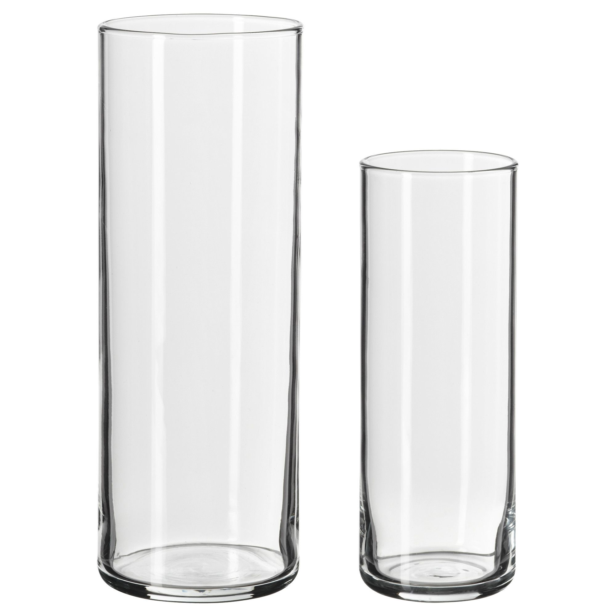 $4.99- CYLINDER Vase, set of 2 - IKEA | Sydney wedding | Pinterest ...