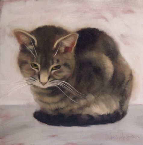 witness the impervious cat in a stoic pose original art
