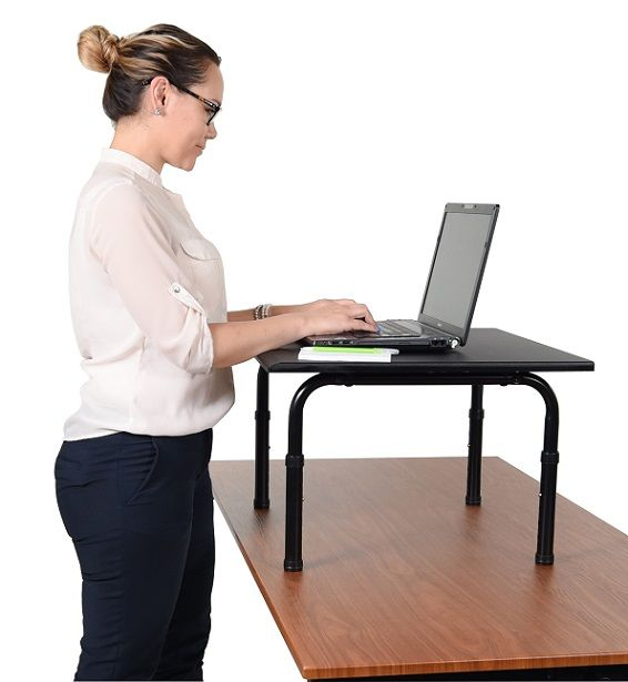 Inexpensive Stand Up Desk Computer Platform With Adjustable Legs Available In Two Sizes Desktop Standing Desk Stand Up Desk Desk