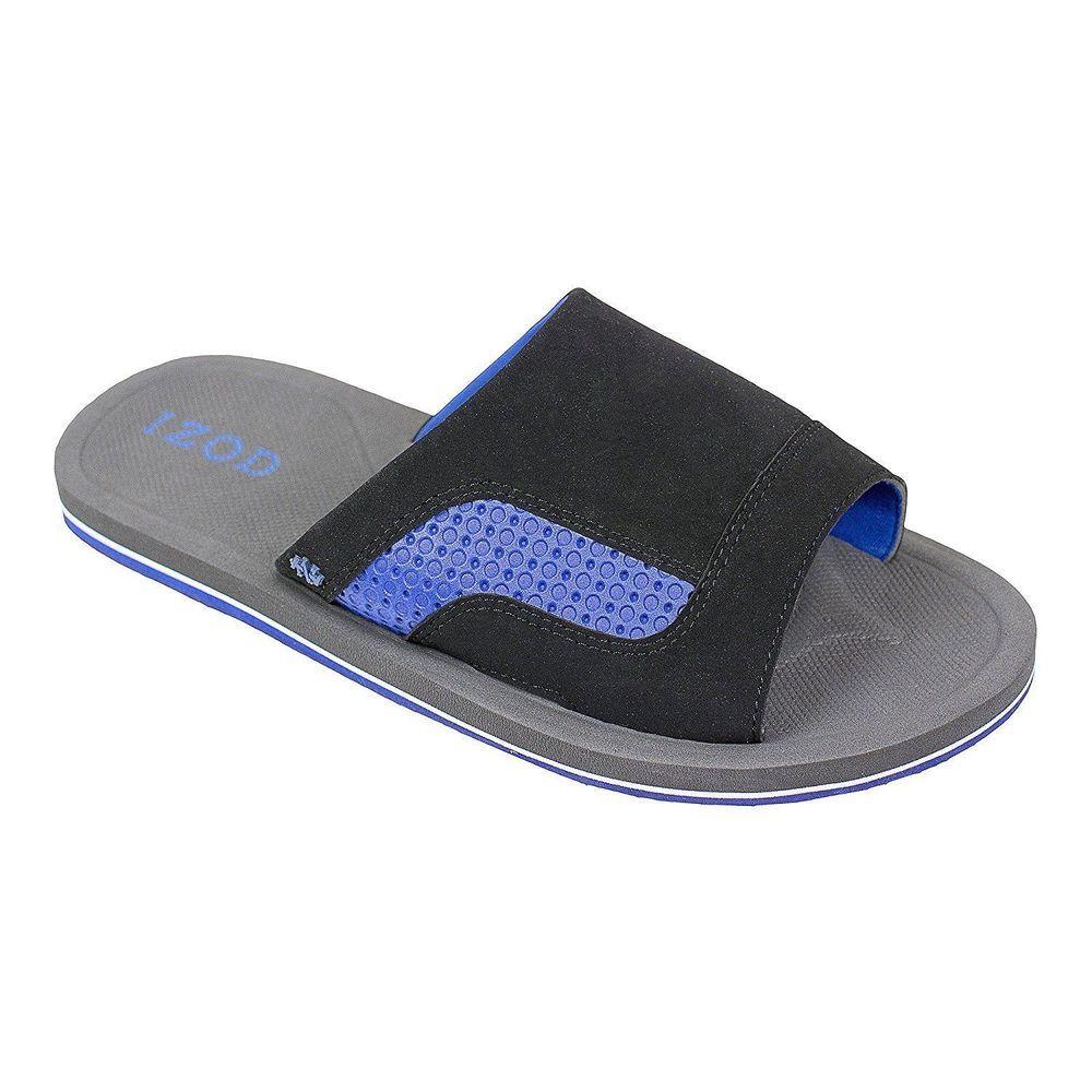 IZOD Mens Brandon After Sport Slide Step-In Sandal Size…   Men\'s ...