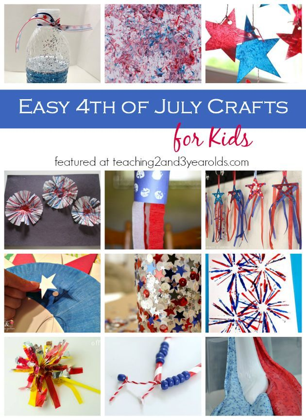Easy 4th Of July Crafts For Kids July Crafts Crafts For Kids