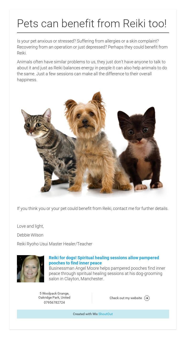 Pets can benefit from Reiki too! Animal reiki, Pets, Reiki