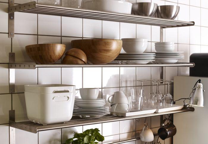 Grundtal Wandplank Ikea Dagrommel Keuken Plank Rvs Kitchen