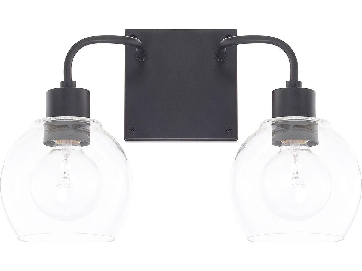 Capital Lighting Homeplace Matte Black Two Light Vanity Light Vanity Lighting Black Vanity Light Bathroom Light Fixtures