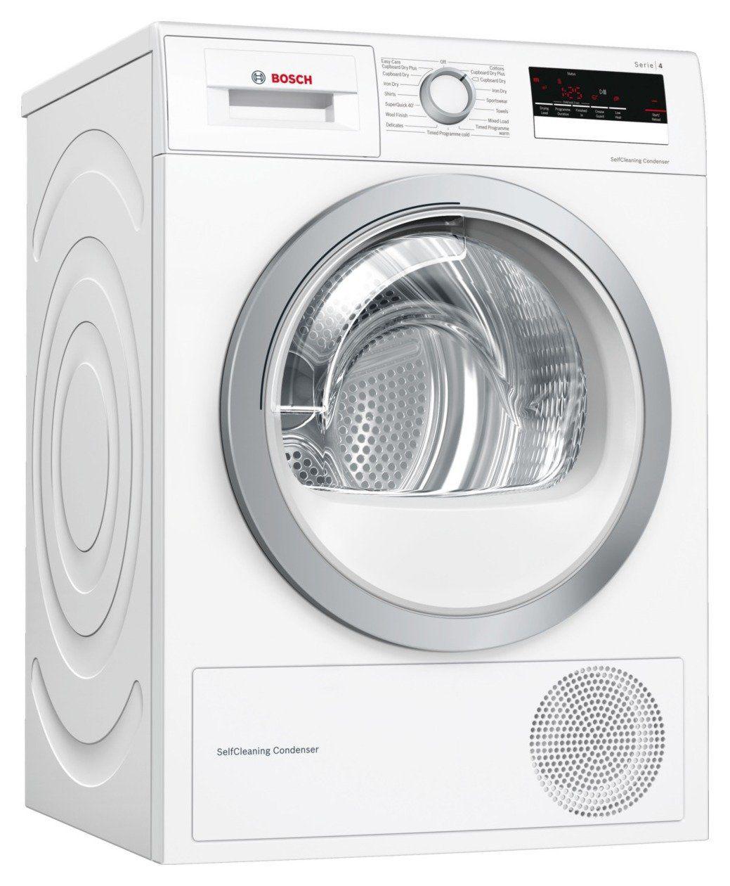 Bosch Wtw85231gb 8kg Heat Pump Tumble Dryer White In 2020 Heat