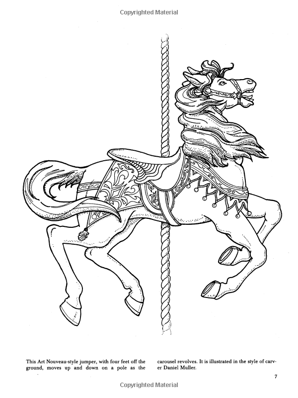 Carousel Animals Coloring Book