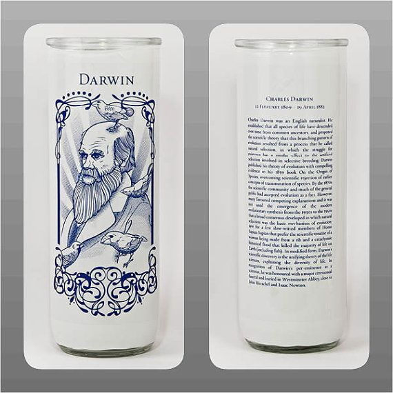 Charles Darwin Votive Candle By Intellectulights On Etsy