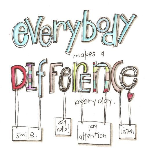 everybody makes a difference