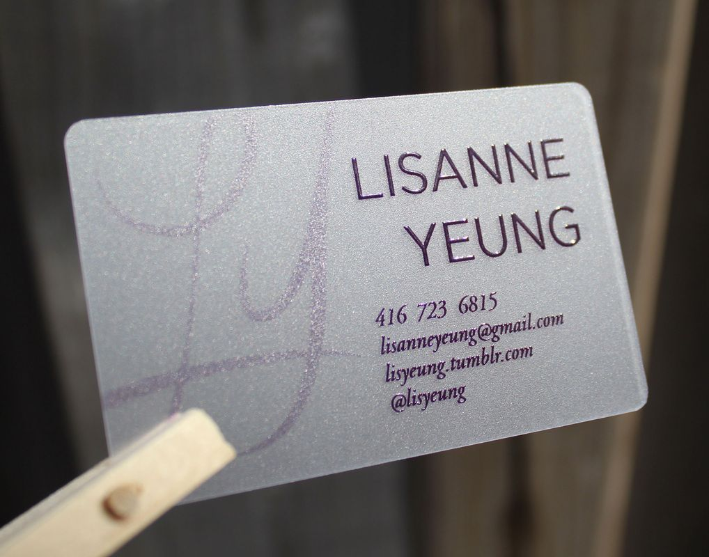 Clear Frosted Plastic Cards - Creative Business Cards | Personalized ...