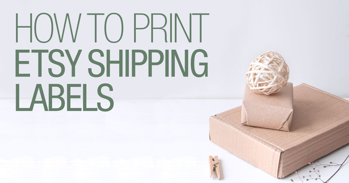 How to print etsy shipping labels etsy shipping