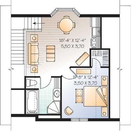 Plano de casa peque a de 2 pisos y 1 dormitorio planos - Butacas pequenas para dormitorio ...