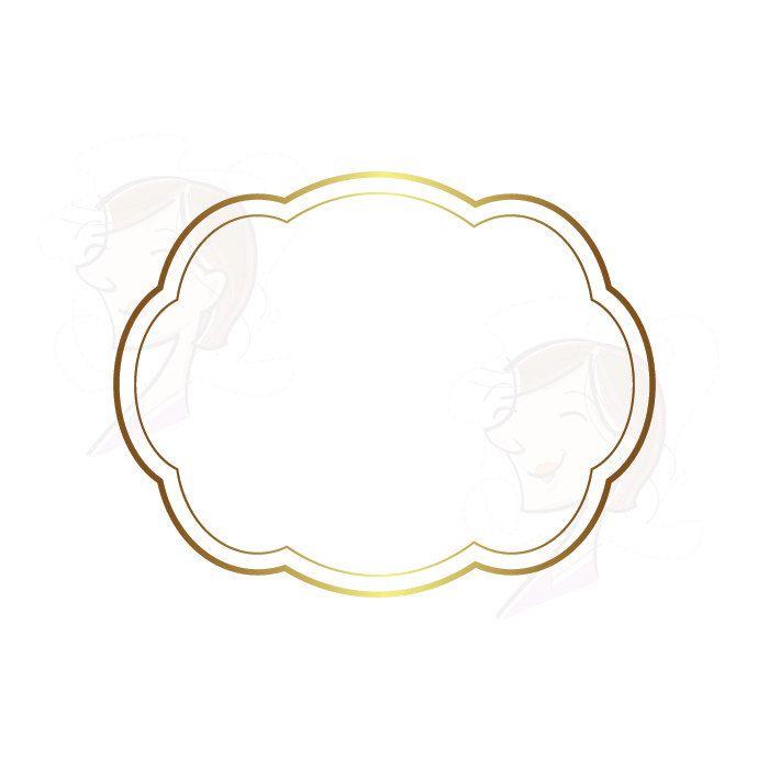 Gold Frames Clipart Digital Vector - suitable to make Cards, Labels ...
