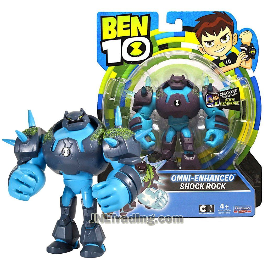 "New 2018 CARTOON NETWORK BEN 10 OMNI ENHANCED SHOCK ROCK 5/"" Figure Alien"