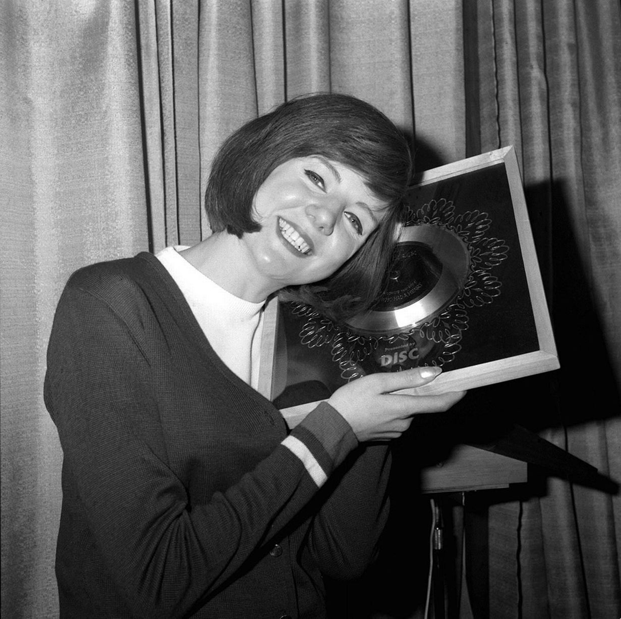 Cilla black with the silver disc awarded for sales of anyone who had cilla black with the silver disc awarded for sales of anyone who had a heart altavistaventures Choice Image