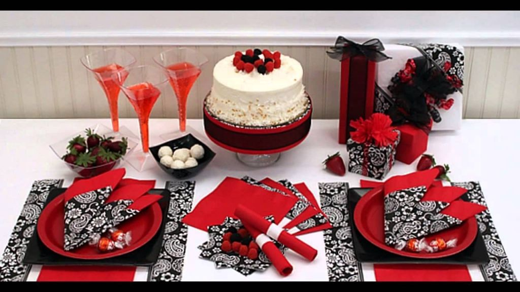 Black And White Party Decorations Birthday Red