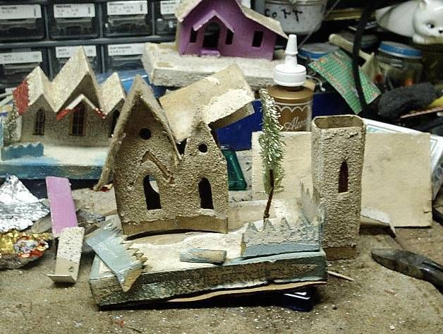 Putz restoration. Papa Ted's Place is now archived on the Cardboard Christmas web site.