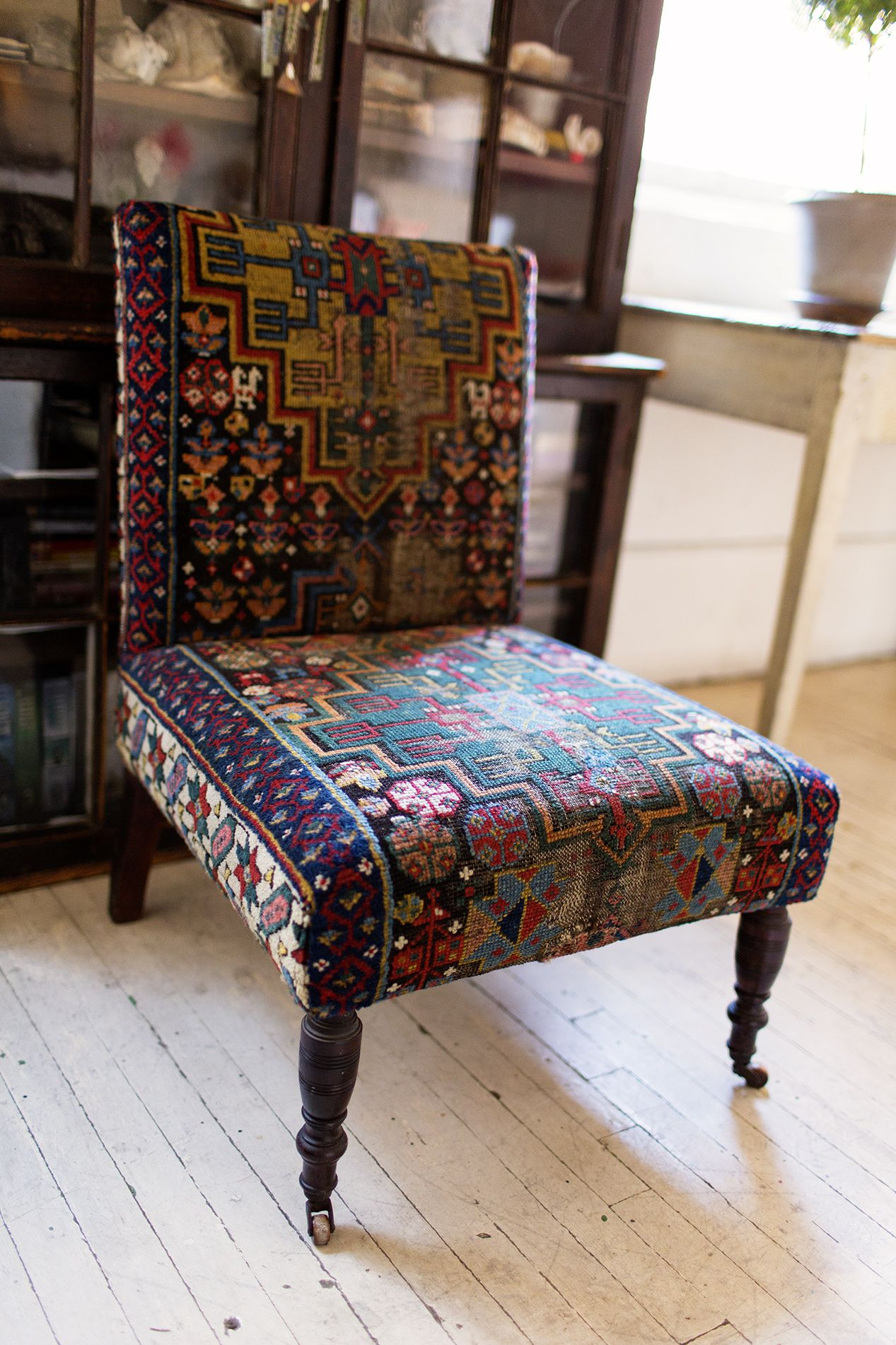 I Like The Idea Of Using A Rug For Upholstery Though I