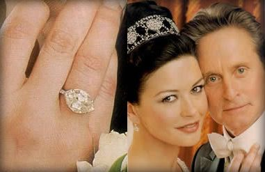 Catherine Zeta Jones 1920s inspired engagement ring 10 carat
