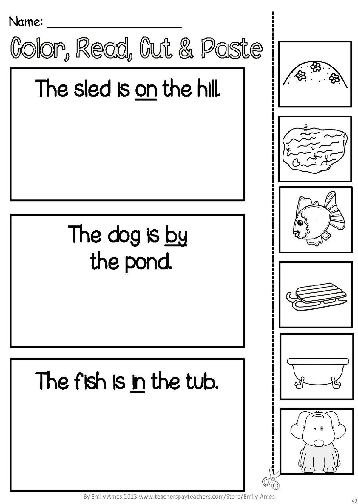 Kindergarten Language Arts Worksheets Kindergarten Language Kindergarten Language Arts [ 1688 x 1200 Pixel ]