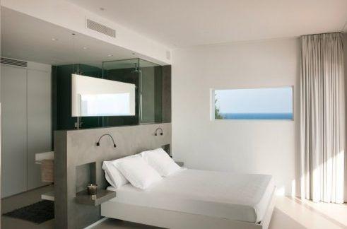 wohnideen schlafzimmer den platz hinterm bett verwerten betthaupt als raumteiler pinterest. Black Bedroom Furniture Sets. Home Design Ideas