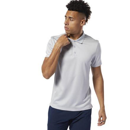 9640b1ec08 Reebok Men's WOR Striped Polo Shirt in Cold Grey 2 Size M - Training ...