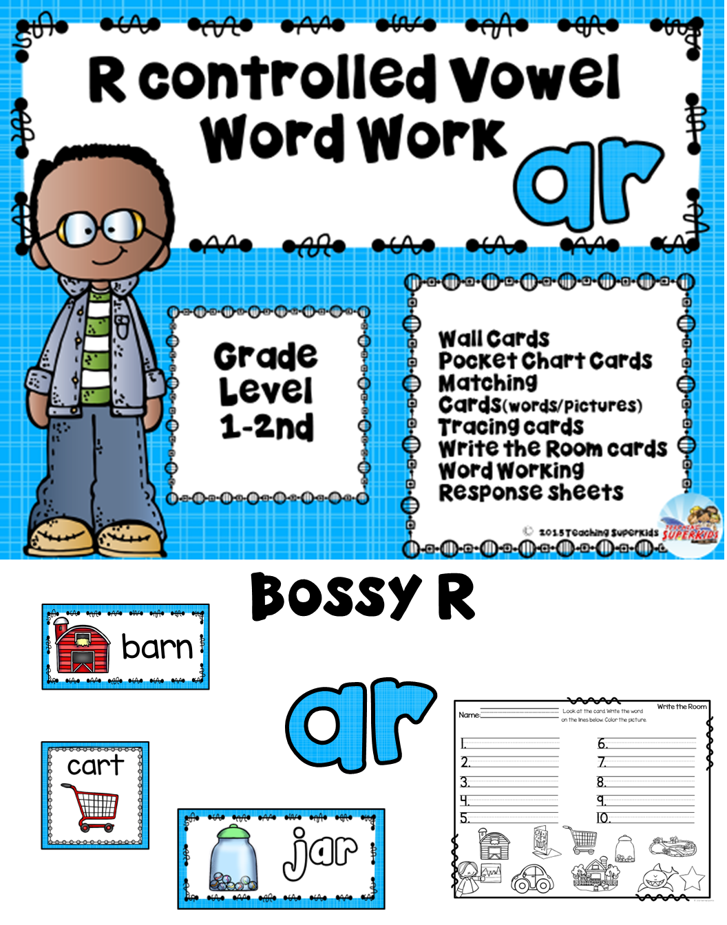 Bossy R Worksheets R Controlled Vowel Sounds With