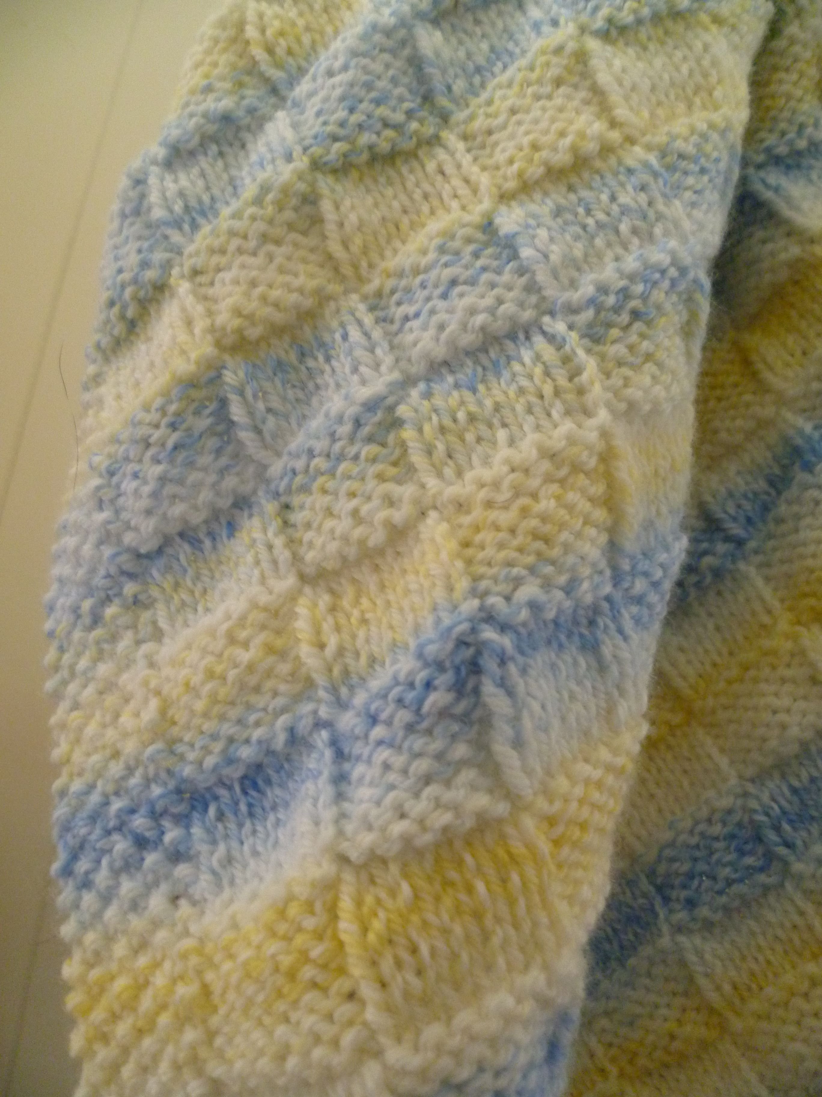 Simple basketweave baby blanket! CO 108 (I used size 8 needles with ...
