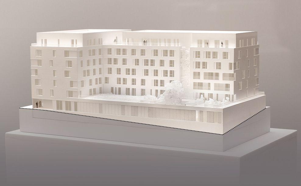 Centre D Hebergement Et De Reinsertion Sociale Chrs Maquette Du Projet En Construction Ameller Dubois Et Assoc Agence Architecture Architecture Architecte