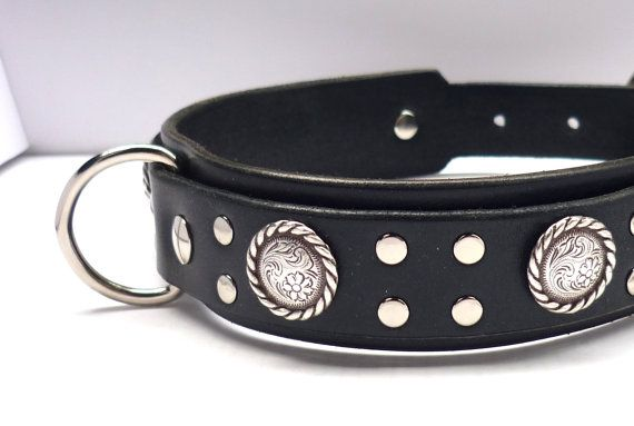 The Double Layer Lasso Large Dog Collar Double D Ring Leather