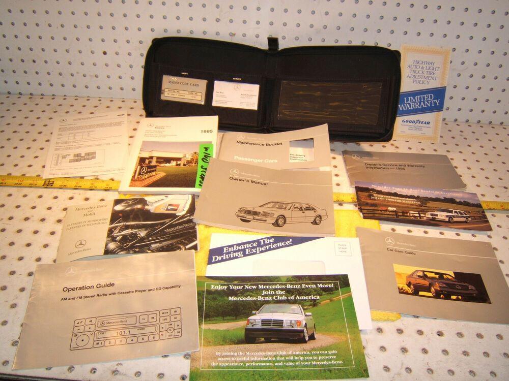 Mercedes 1995 W140 500 Owner S Manual 1 Set Of 11 Bookletpaper Owners Manuals Cars Trucks Mercedes