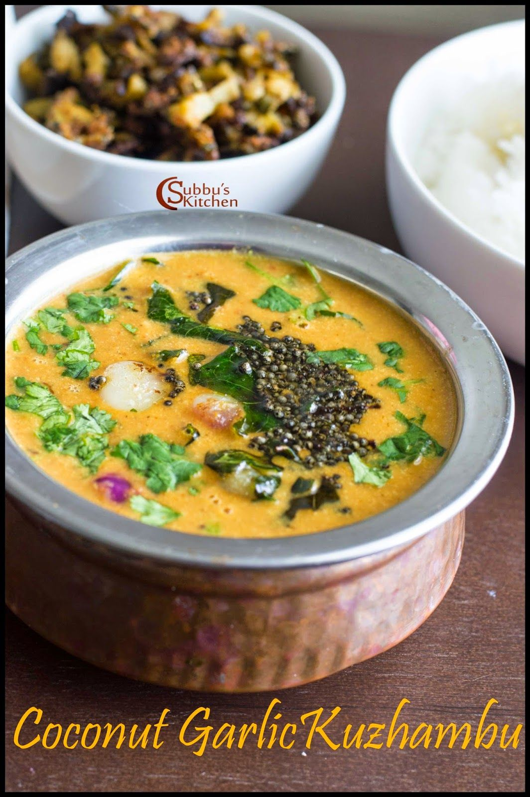 Coconut Garlic Kuzhambu Thengai Poondu Kuzhambu Recipe Indian Food Recipes Vegetarian Sambhar Recipe Food Recipes