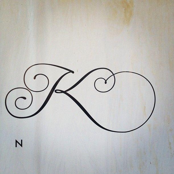K Lettering Poster Tattoo Lettering K Tattoo Trendy Tattoos