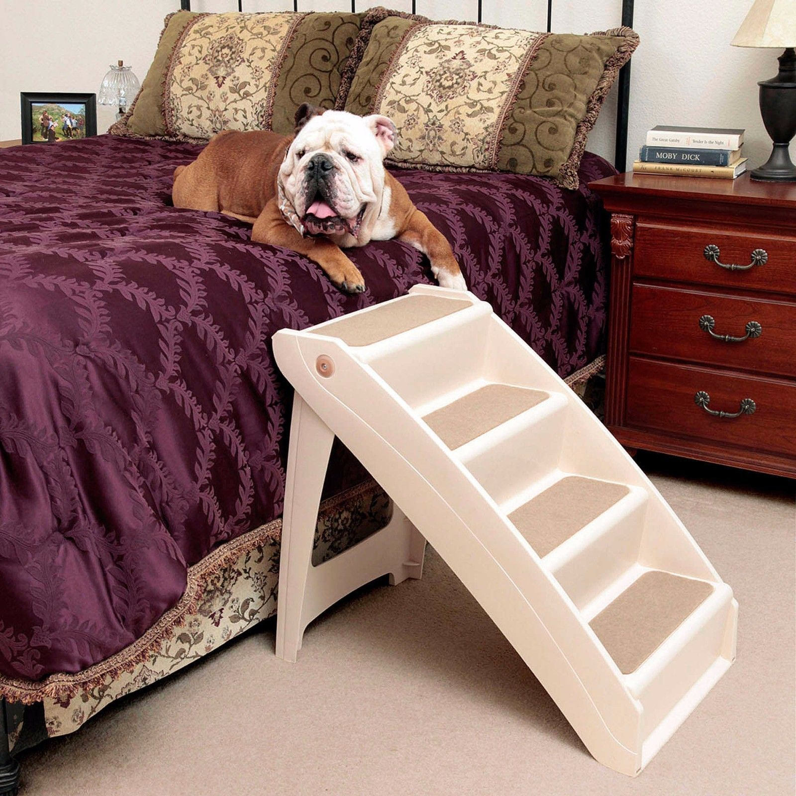Mobby loft bed with stairs  Dog Bed Ladder  DOG IDEA  Pinterest  Bedding Ladder and Dog beds