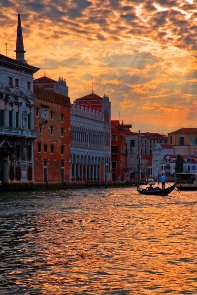 Photo of Print of Sunset over grand canal, Venice, Italy