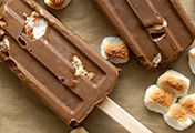 Toasted Marshmallow-Chocolate Frozen Pops @CA_Avocados