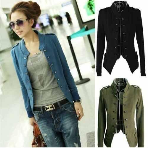 692b8d35315c8 chaqueta mujer army colores buso saco abrigo blazer cardigan ...