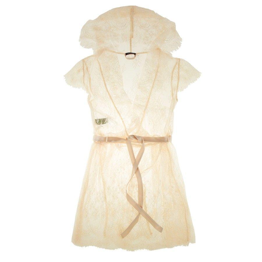 Buy Elle Macpherson Intimates luxury lingerie - Elle Macpherson Obsidian Maria short robe | Journelle Fine Lingerie