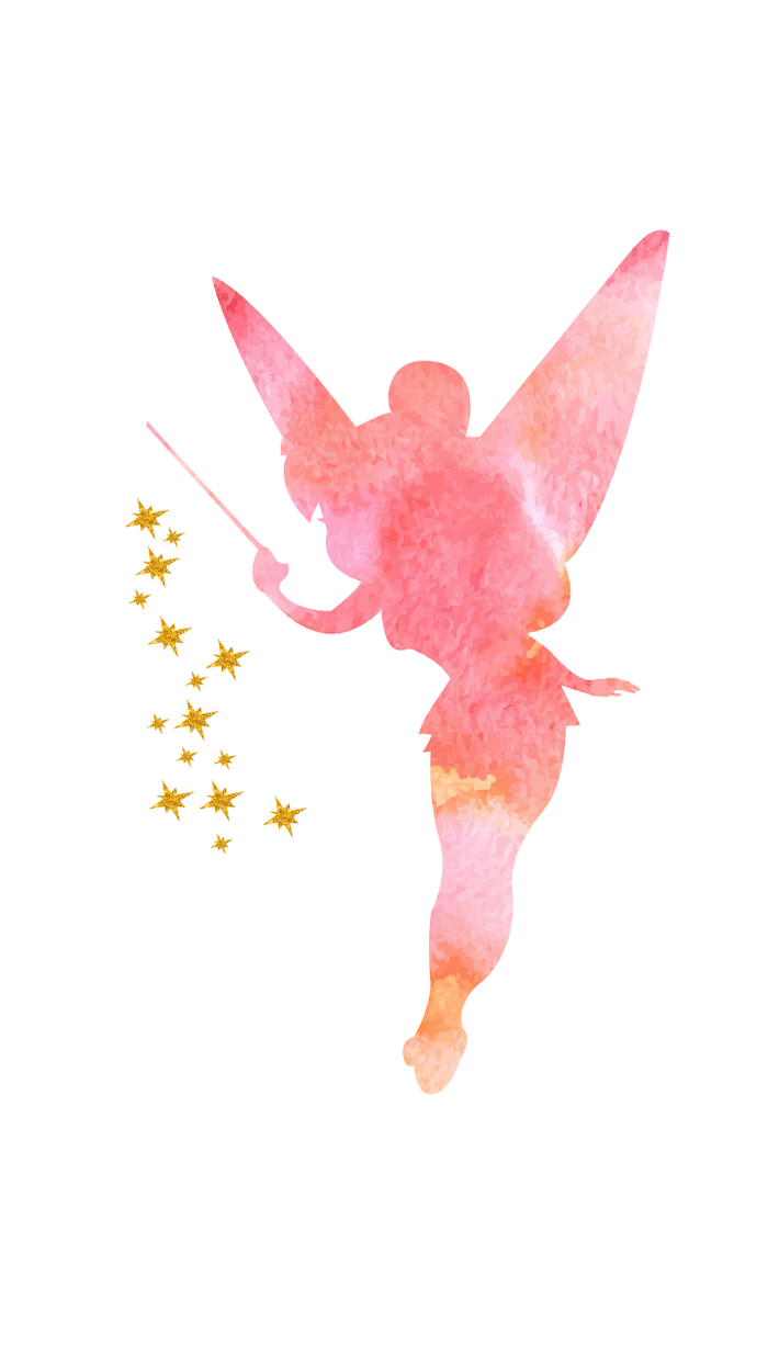 Backgrounds For Girls Tinkerbell Pink Drawing Outline White Background In 2020 Cute Backgrounds Cute Backgrounds For Phones Cute Girl Wallpaper