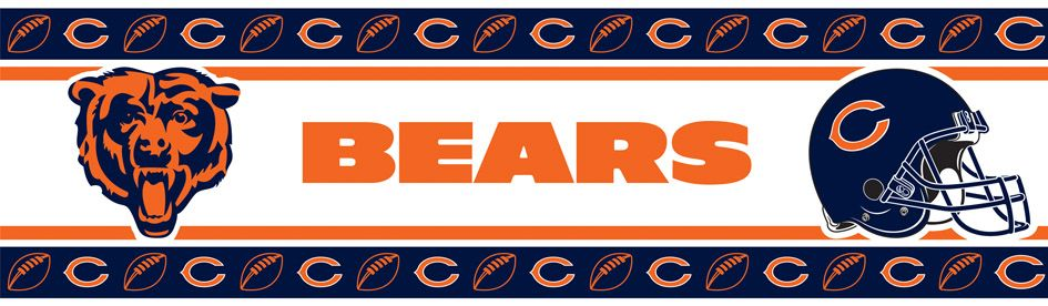 NFL Chicago Bears Wall Paper Border Wall borders