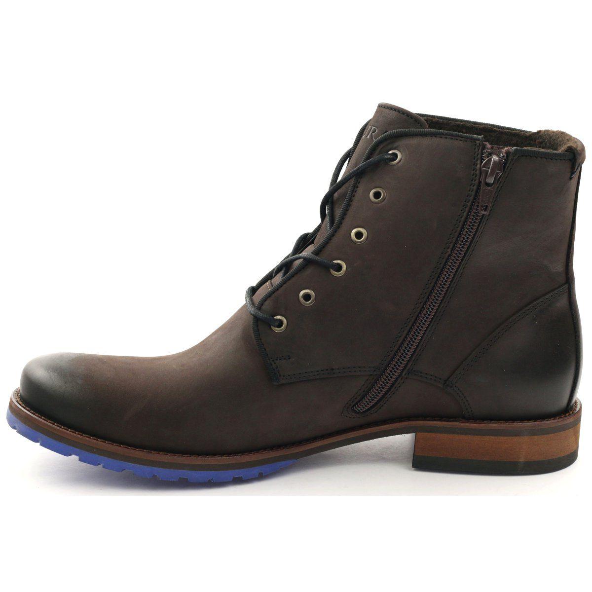 Trzewiki Botki Badura 4559 Brazowe Shoes Boots Combat Boots