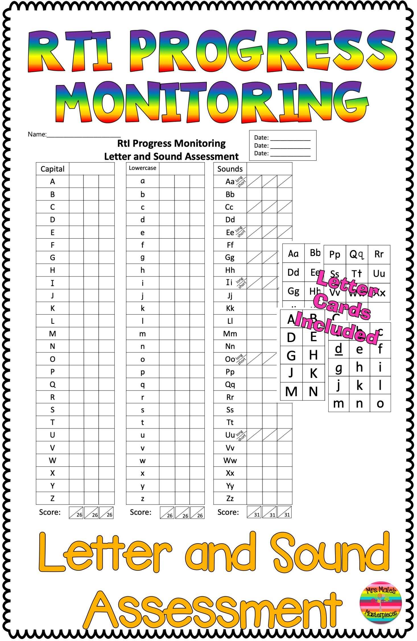 Letter And Sound Recognition Assessment Rti