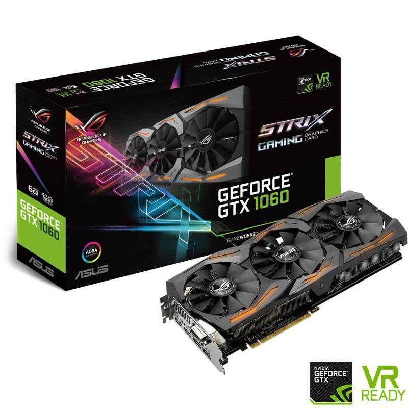 Asus Geforce Gtx 1060 Rog Strix 6g Gaming Gddr5 Rog Strix Gtx1060 6g Gaming With Images Graphic Card Asus Rog Asus Computer