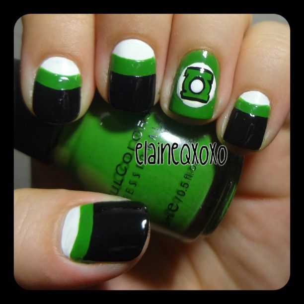 Green Lantern! | Nails | Pinterest | Decoración de uñas, Maquillaje ...