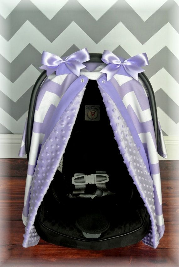 LAVENDER MINKY Carseat Canopy Car Seat Cover By JaydenandOlivia