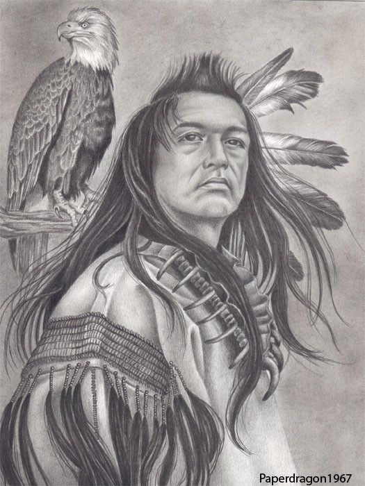 American Indian Drawings Pencil