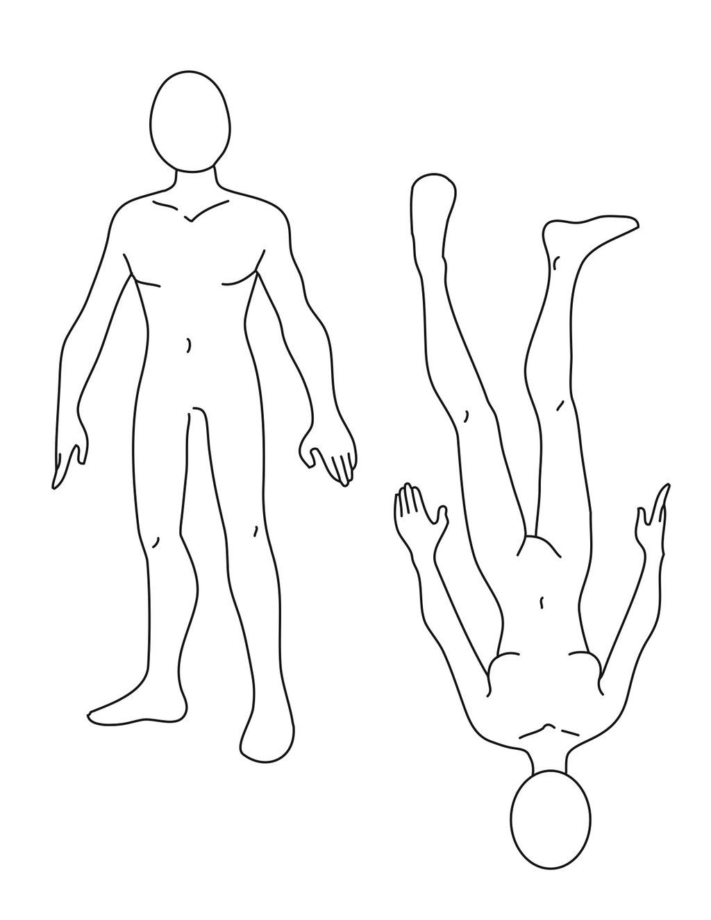 Basic Body Template for man or woman | Costume - Rendering Templates ...