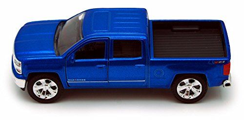 Chevy Silverado Pickup Truck, Blue - Jada Toys Just Trucks 97017 - 1/32 scale Diecast Model Toy Car | Die Cast Model Cars