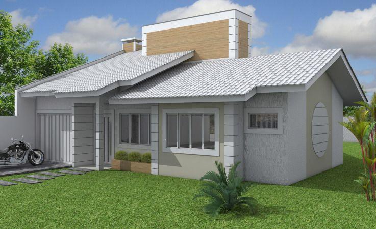 Frentes de casas modernas 25 modelos fachadas casa for Modelos de fachadas de casas modernas