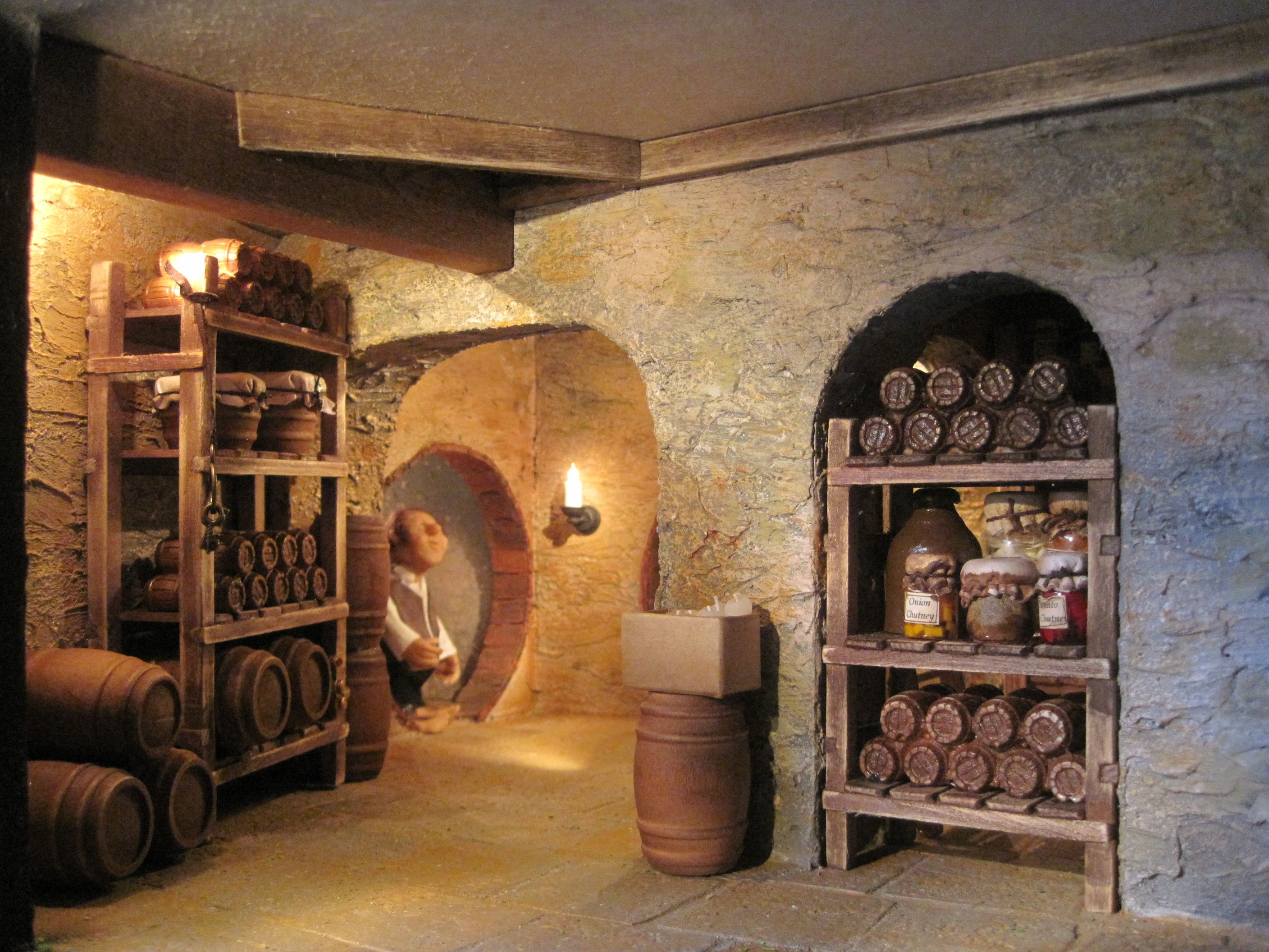 Dachboden Kleine Küche Inside Cellar Of The Hobbit Hole Miniature Dioramen