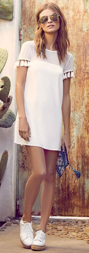Iced Latte White Shift Dress  5c6d431333d